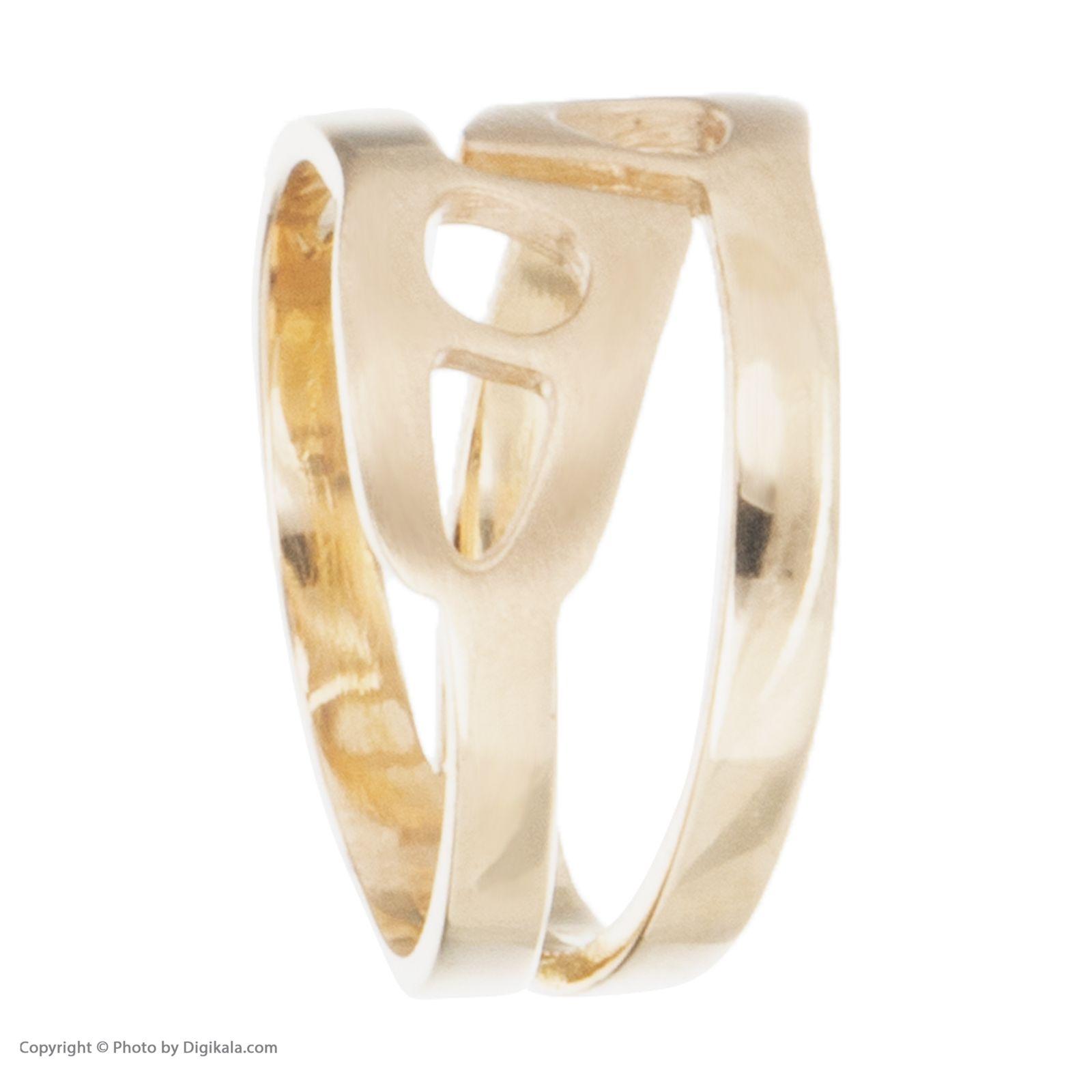 انگشتر طلا 18 عیار زنانه آلند کد H1022 -  - 3
