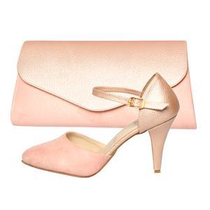 ست کیف و کفش زنانه کد st470 رنگ صورتی