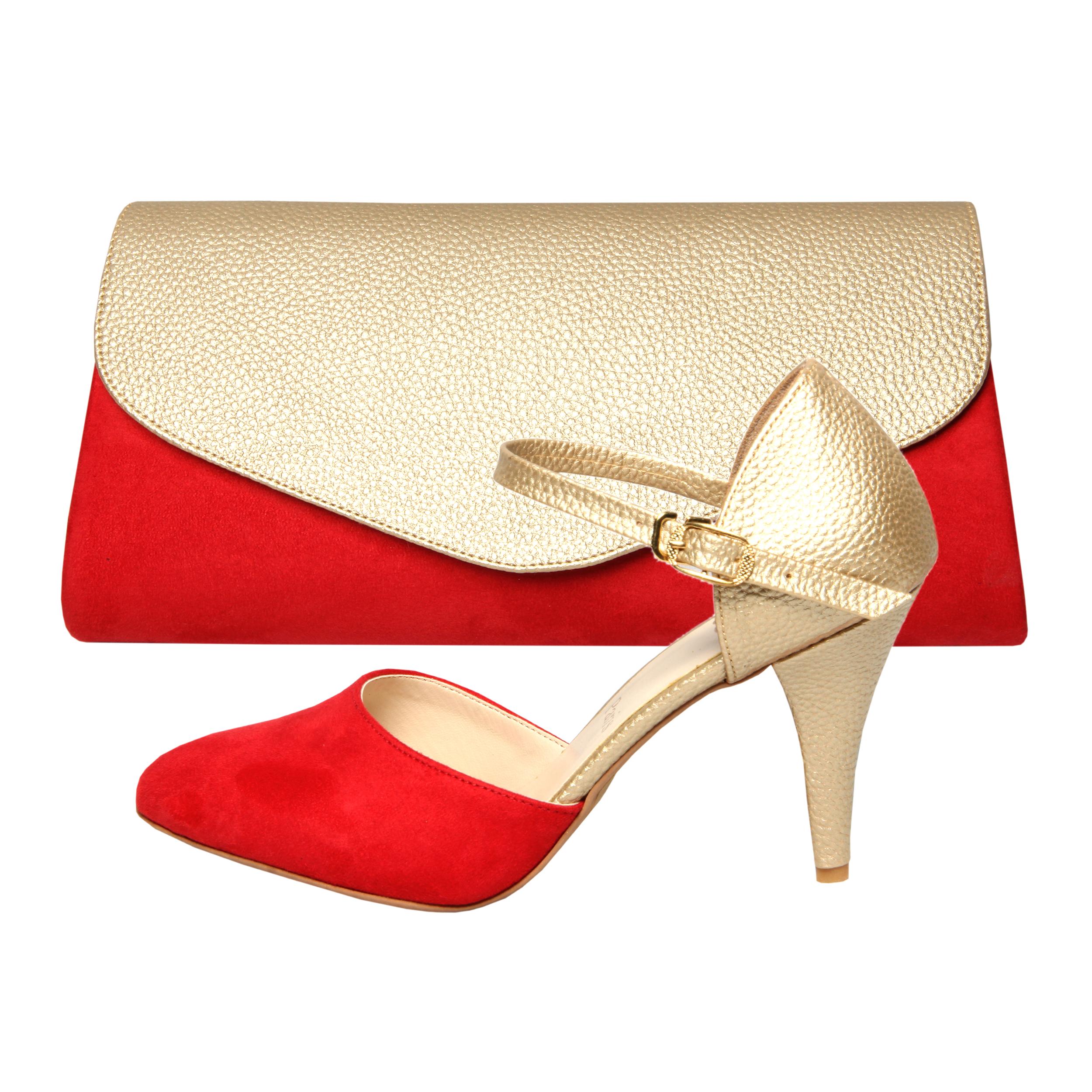 خرید                      ست کیف و کفش زنانه کد st470 رنگ قرمز