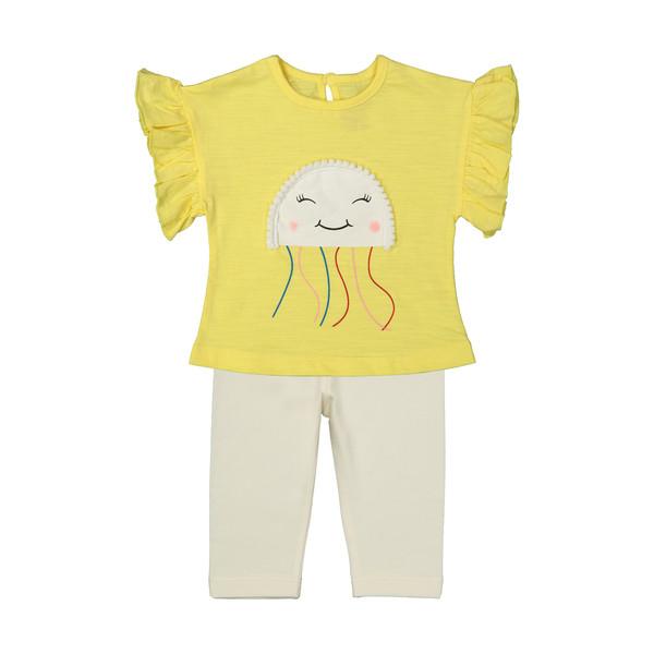 ست تی شرت و شلوار دخترانه رابو مدل 2051123-11