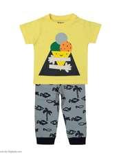 ست تی شرت و شلوار دخترانه رابو مدل 2051122-11 -  - 1