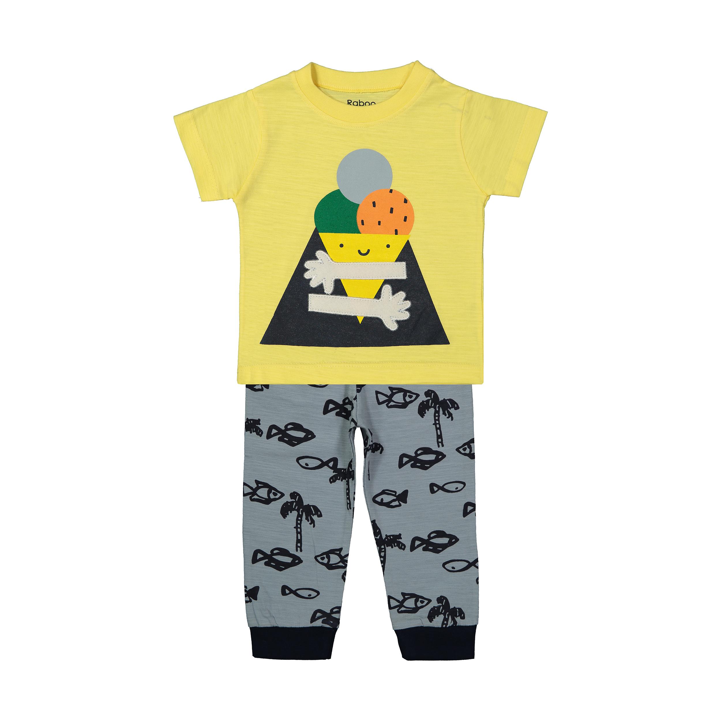 ست تی شرت و شلوار دخترانه رابو مدل 2051122-11