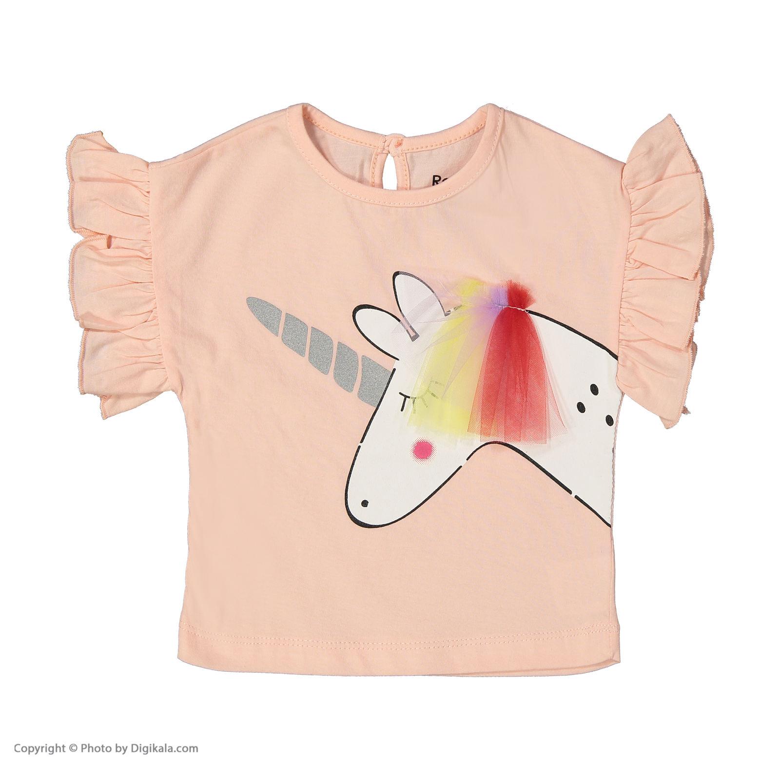ست تی شرت و شلوار دخترانه رابو مدل 2051127-81 main 1 2