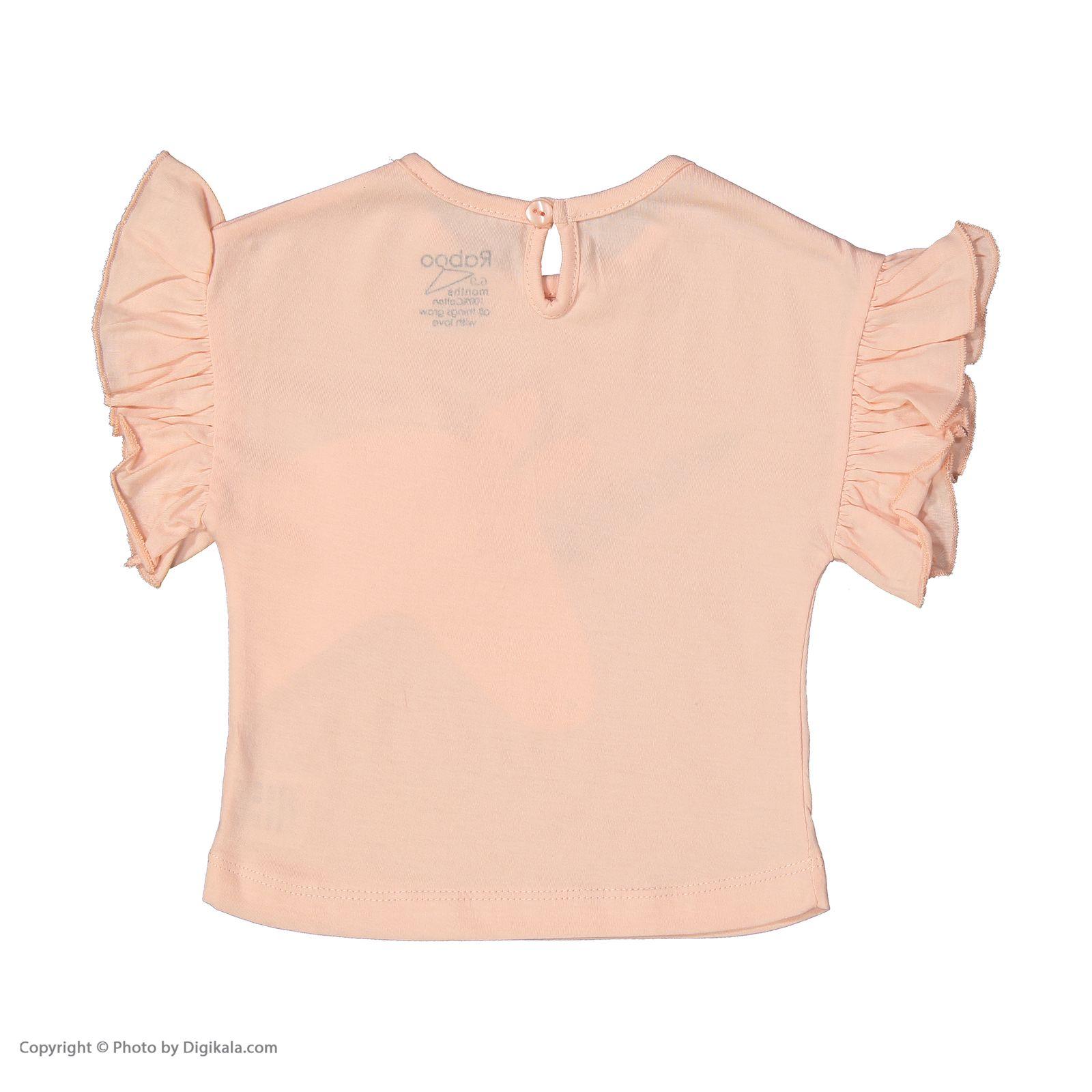ست تی شرت و شلوار دخترانه رابو مدل 2051127-81 main 1 3