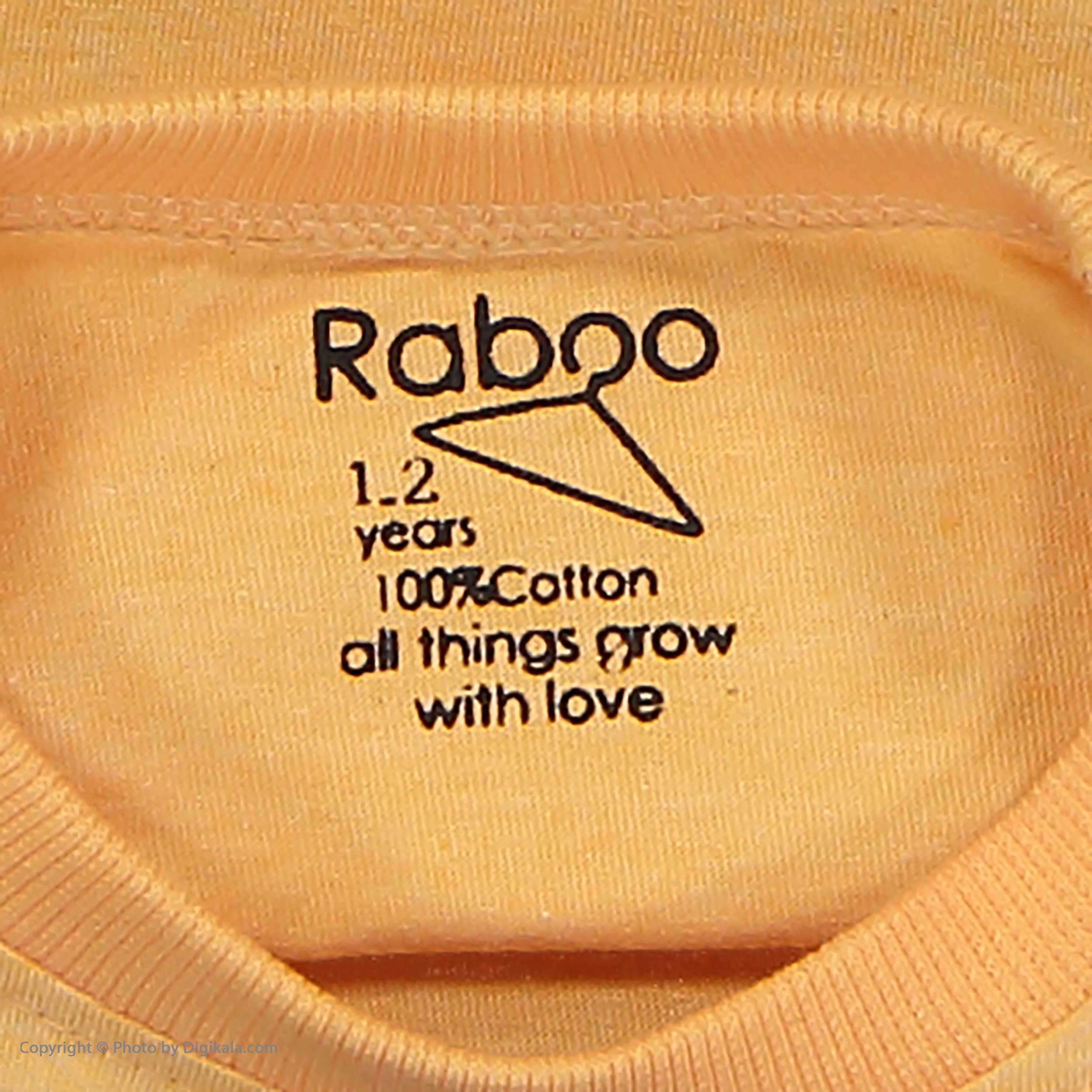 ست تی شرت و شلوار دخترانه رابو مدل 2051125-23 -  - 5