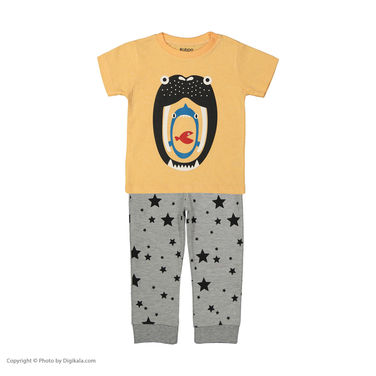 ست تی شرت و شلوار دخترانه رابو مدل 2051125-23 -  - 1