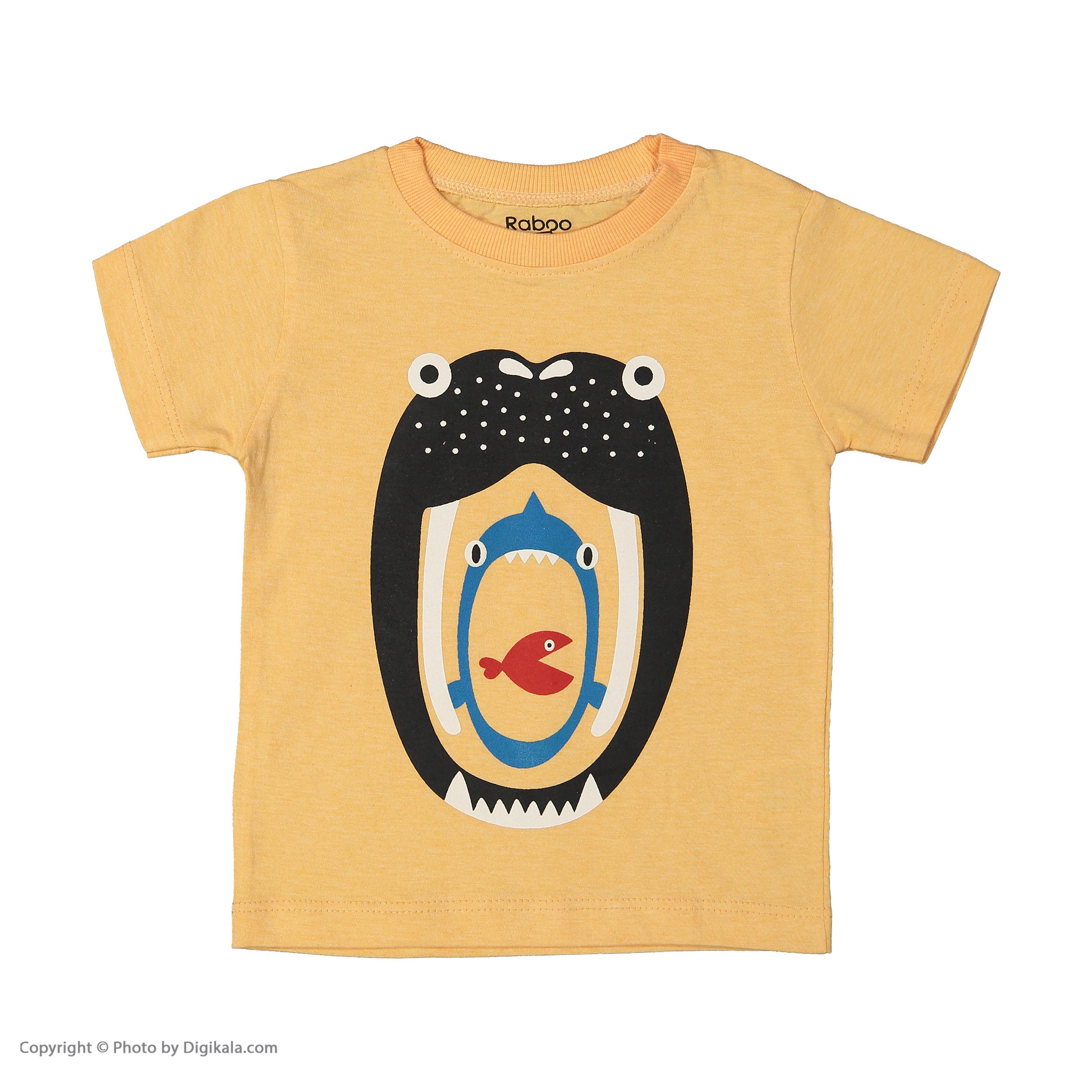 ست تی شرت و شلوار دخترانه رابو مدل 2051125-23