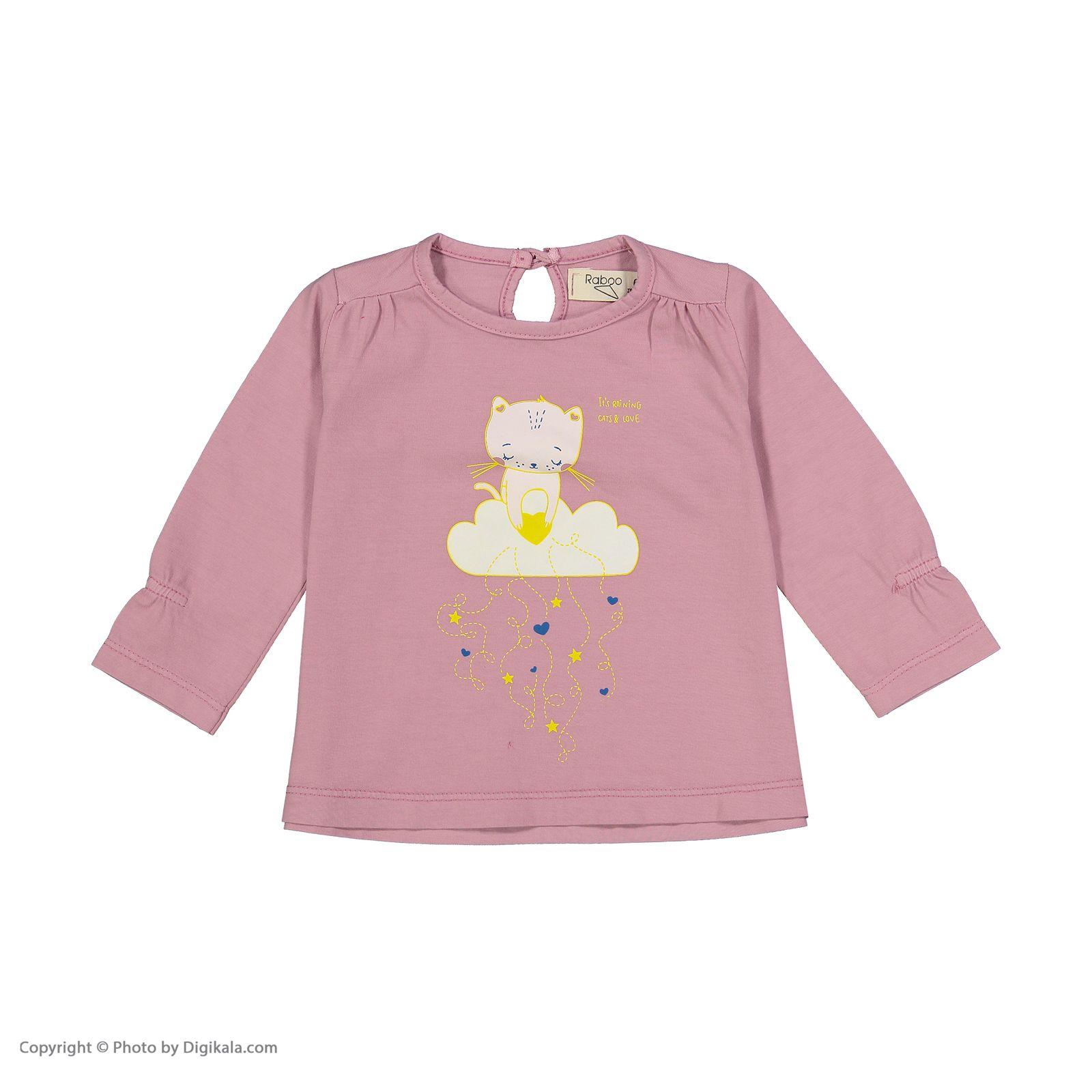 تی شرت دخترانه رابو مدل 2051118-86 -  - 1