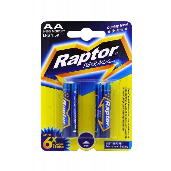 بررسی و {خرید با تخفیف} باتری قلمی رپتور مدل LR6 Super Allkaline بسته 2 عددی اصل