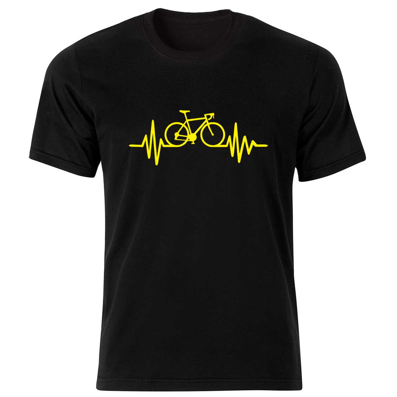 تیشرت   آستین  کوتاه   بچگانه  طرح    ضربان دوچرخه   کد    BT178