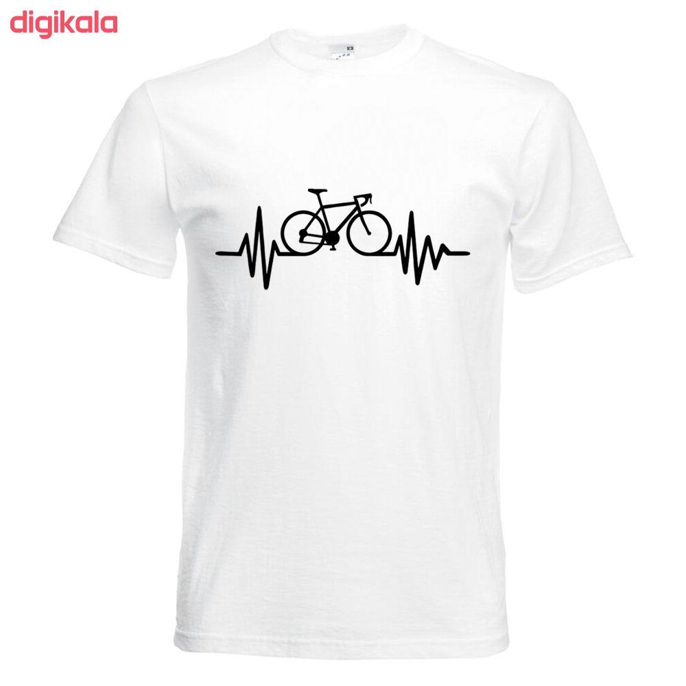 تیشرت آستین کوتاه   بچگانه  طرح ضربان دوچرخه      کد   KT0119 main 1 1