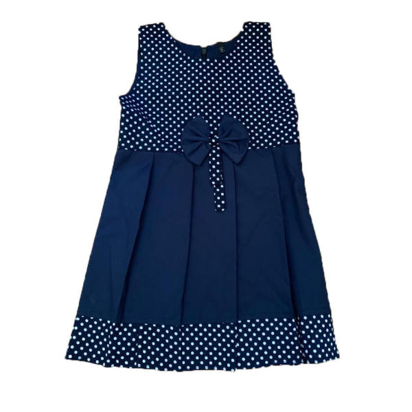پیراهن دخترانه طرح خال خالی مدل A&S7173