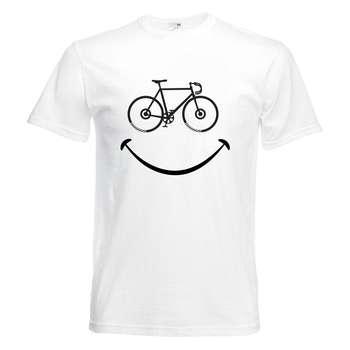 تیشرت آستین کوتاه   بچگانه  طرح لبخند دوچرخه    کد KT0190
