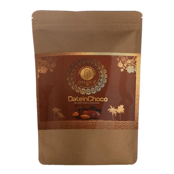 شکلات مغز دار خرمایی دلوکا-۲۵۰گرم