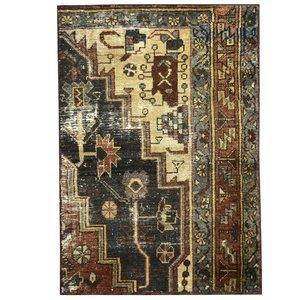 فرش دستبافت قدیمی نیم متری کد 971168