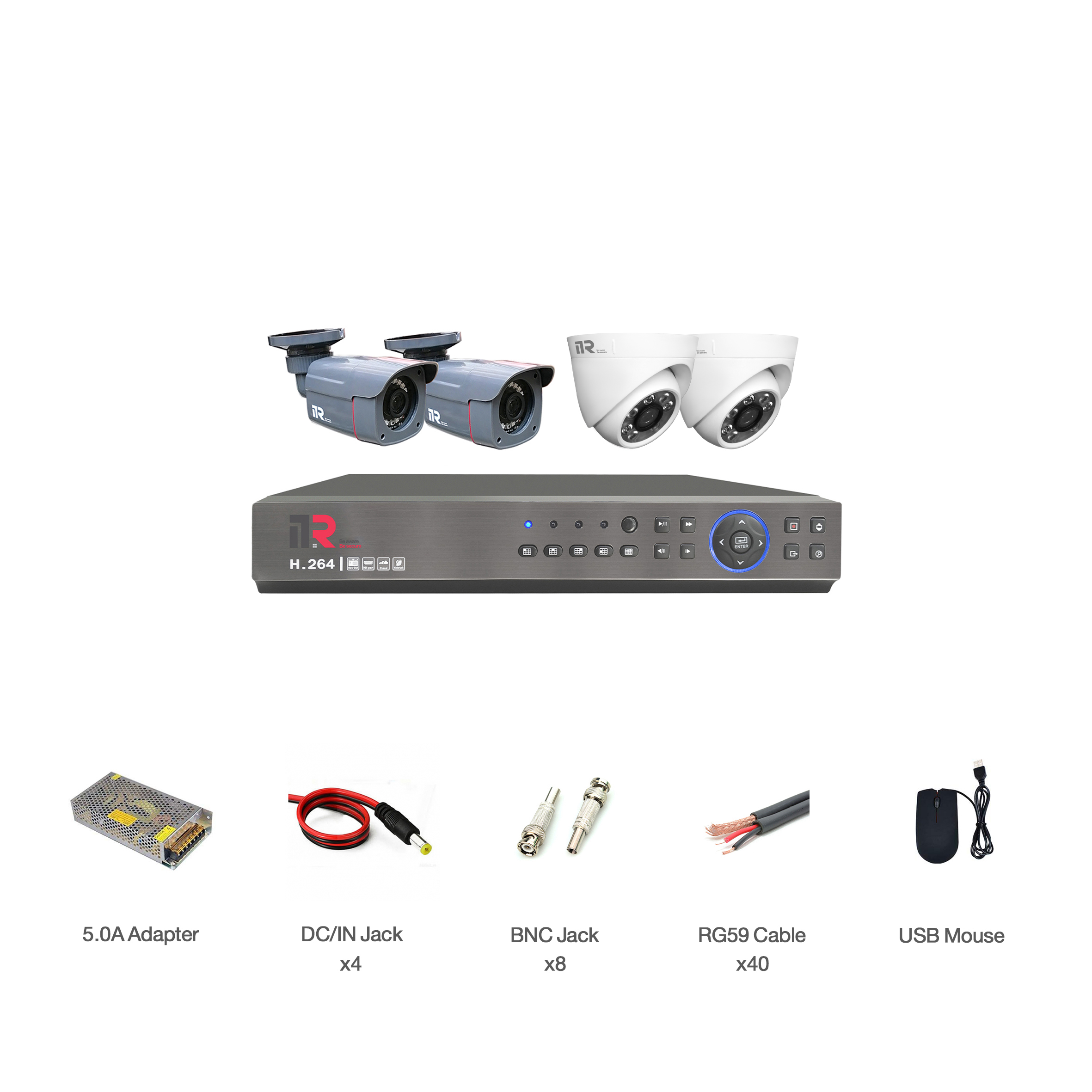 سیستم امنیتی آنالوگ آی تی آر مدل DK1_2R28_2D28_411