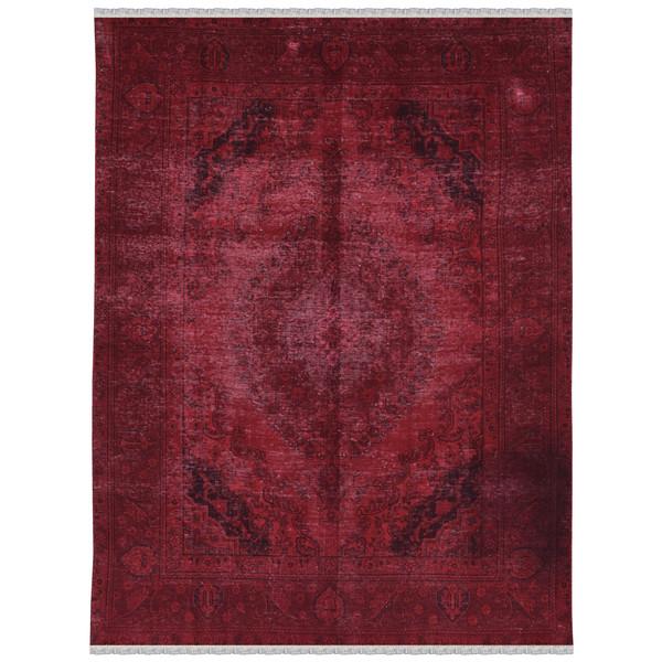 فرش دستبافت رنگ شده پنج و نیم متری طرح وینتیج کد 981177