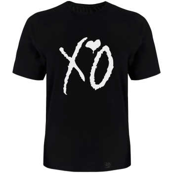 تی شرت آستین کوتاه مردانه 27 طرح XO کد TR08 رنگ مشکی