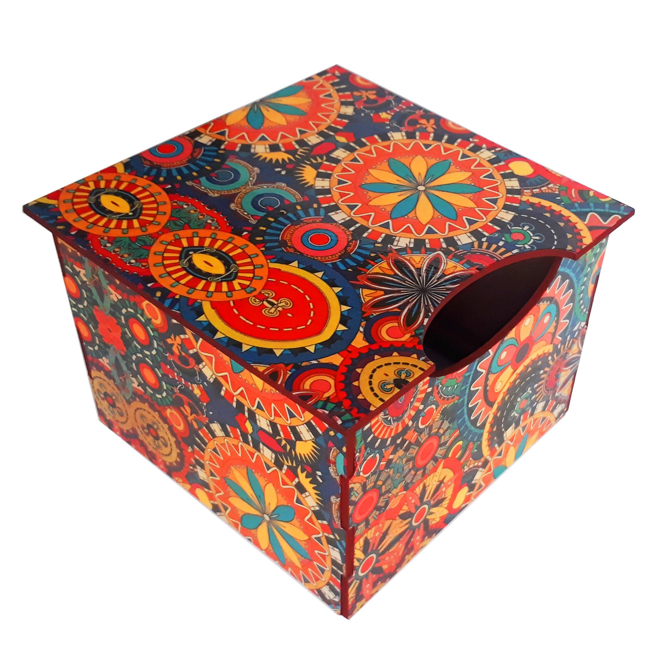 جعبه دستمال کاغذی مدل پرمیس کد DO125