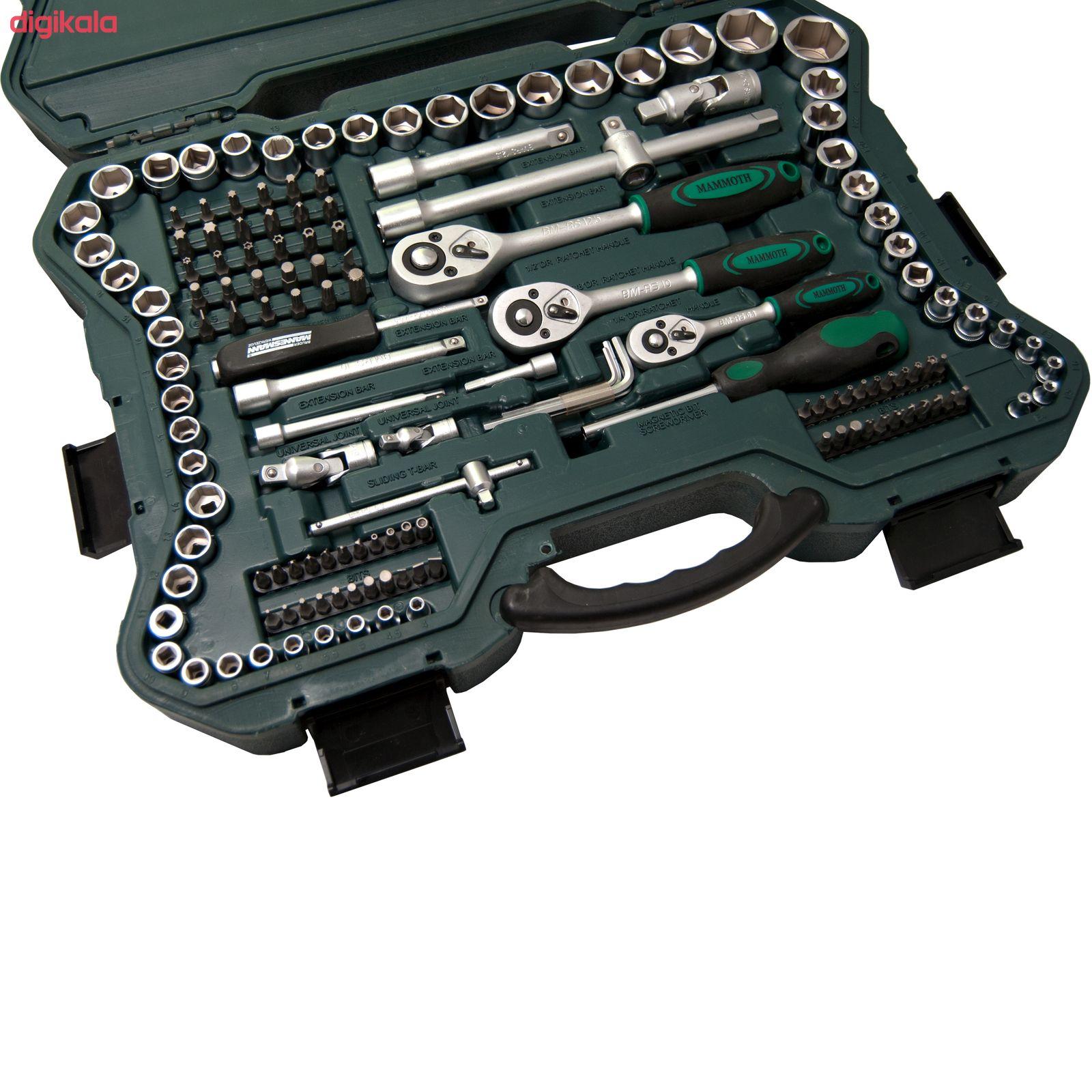 مجموعه 215 عددی آچار بکس و سری پیچ گوشتی ماموت مدل 90900035 main 1 6