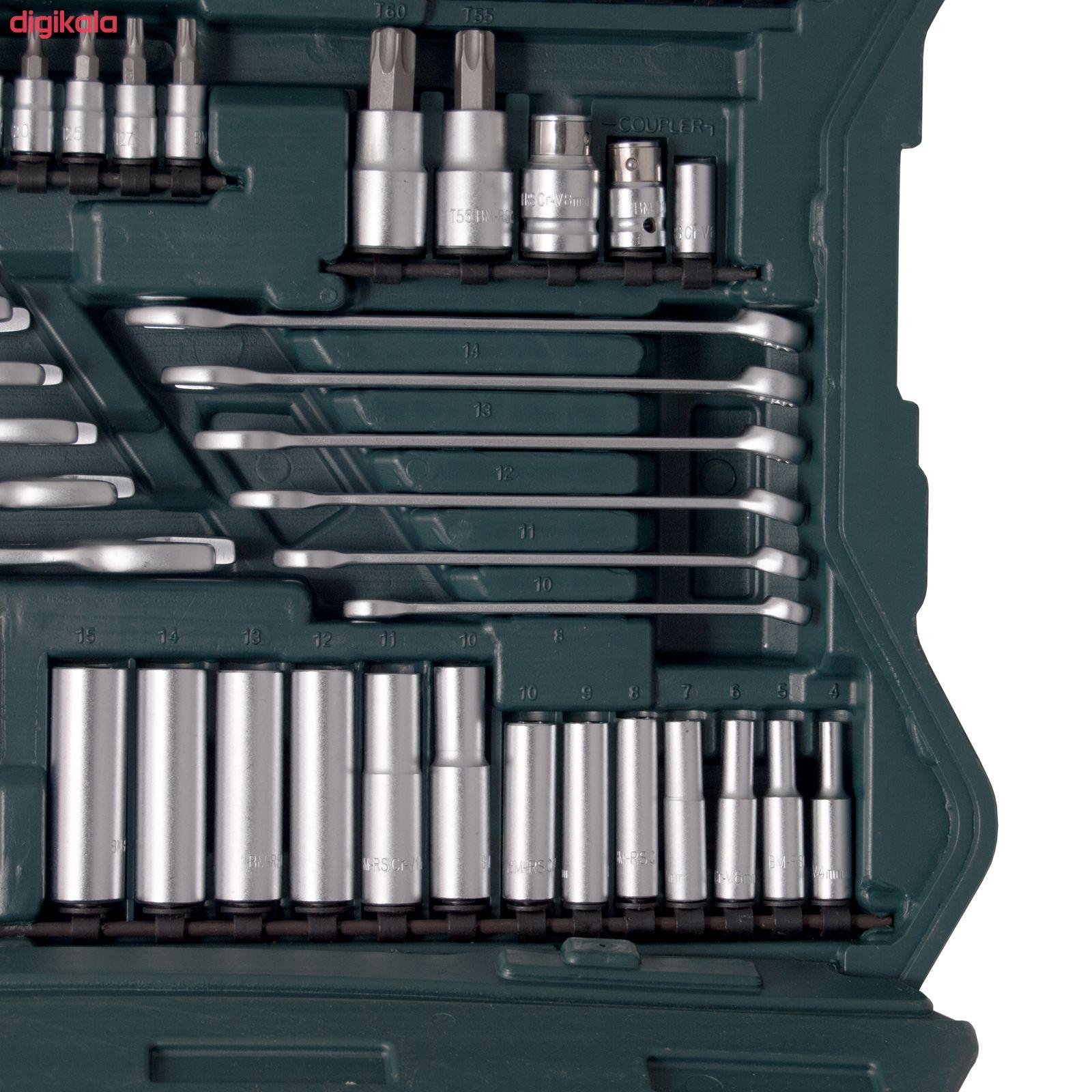 مجموعه 215 عددی آچار بکس و سری پیچ گوشتی ماموت مدل 90900035 main 1 5