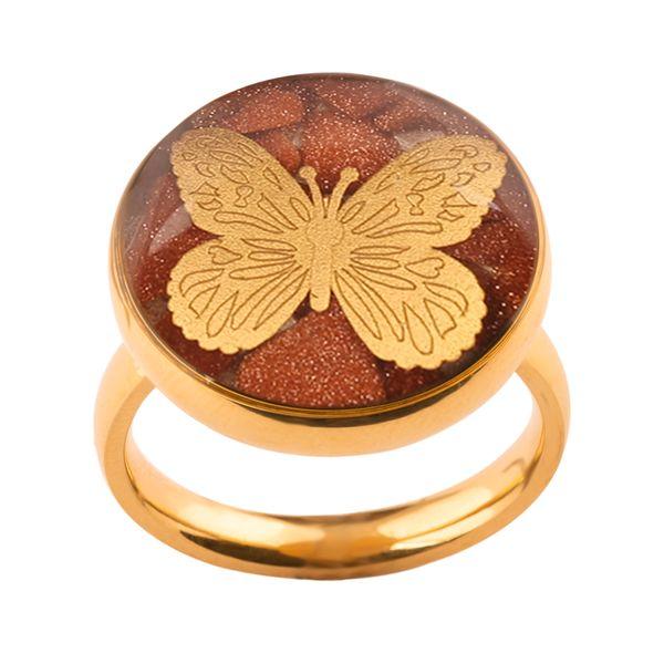 انگشتر طلا 24 عیار زنانه الون طرح پروانه