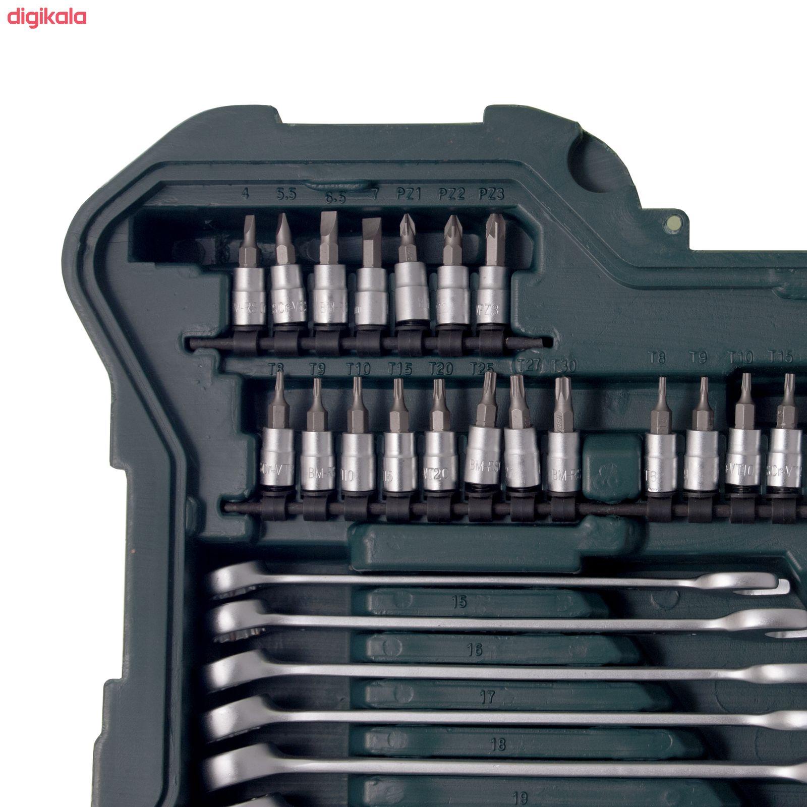 مجموعه 215 عددی آچار بکس و سری پیچ گوشتی ماموت مدل 90900035 main 1 3