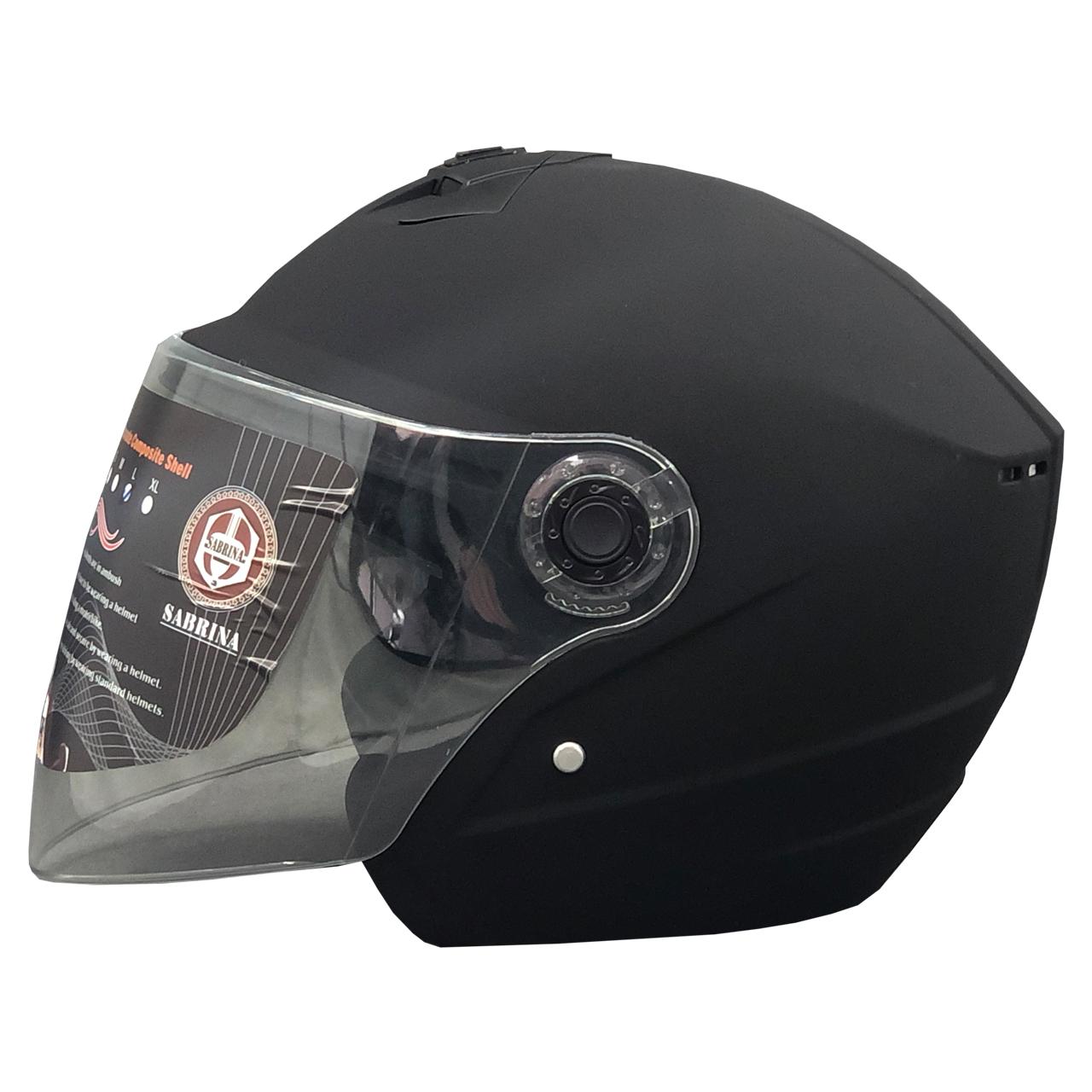 کلاه کاسکت سابرینا مدل 505_MTBLK