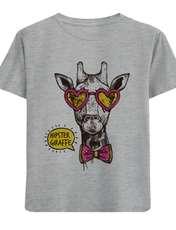 تی شرت آستین کوتاه دخترانه طرح زرافه کد F15 -  - 1