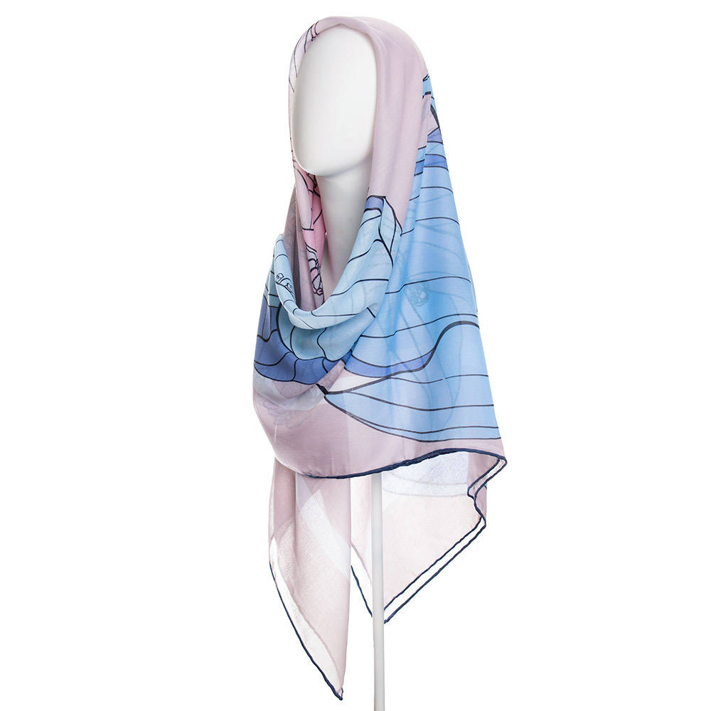 روسری زنانه نوولاشال کد 022499 -  - 2