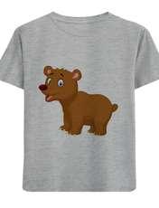 تی شرت آستین کوتاه پسرانه طرح خرس کد F05 -  - 1