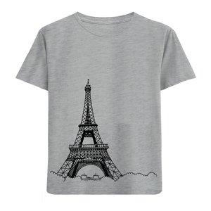 تی شرت آستین کوتاه پسرانه طرح ایفل کد F12