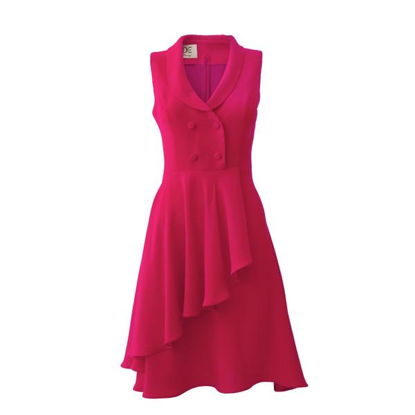 پیراهن زنانه درس ایگو کد 1010018 رنگ سرخابی
