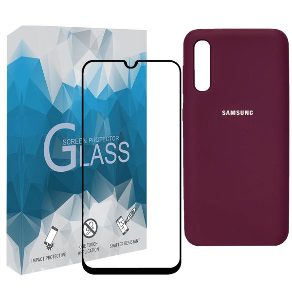 کاورمدل SLCN_02 مناسب برای گوشی موبایل سامسونگ Galaxy A50 به همراه محافظ صفحه نمایش