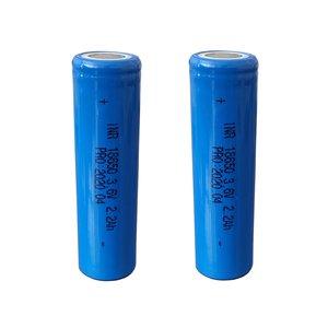 باتری لیتیوم یون مدل INR 18650 ظرفیت 2200 میلی آمپر ساعت مجموعه 2 عددی