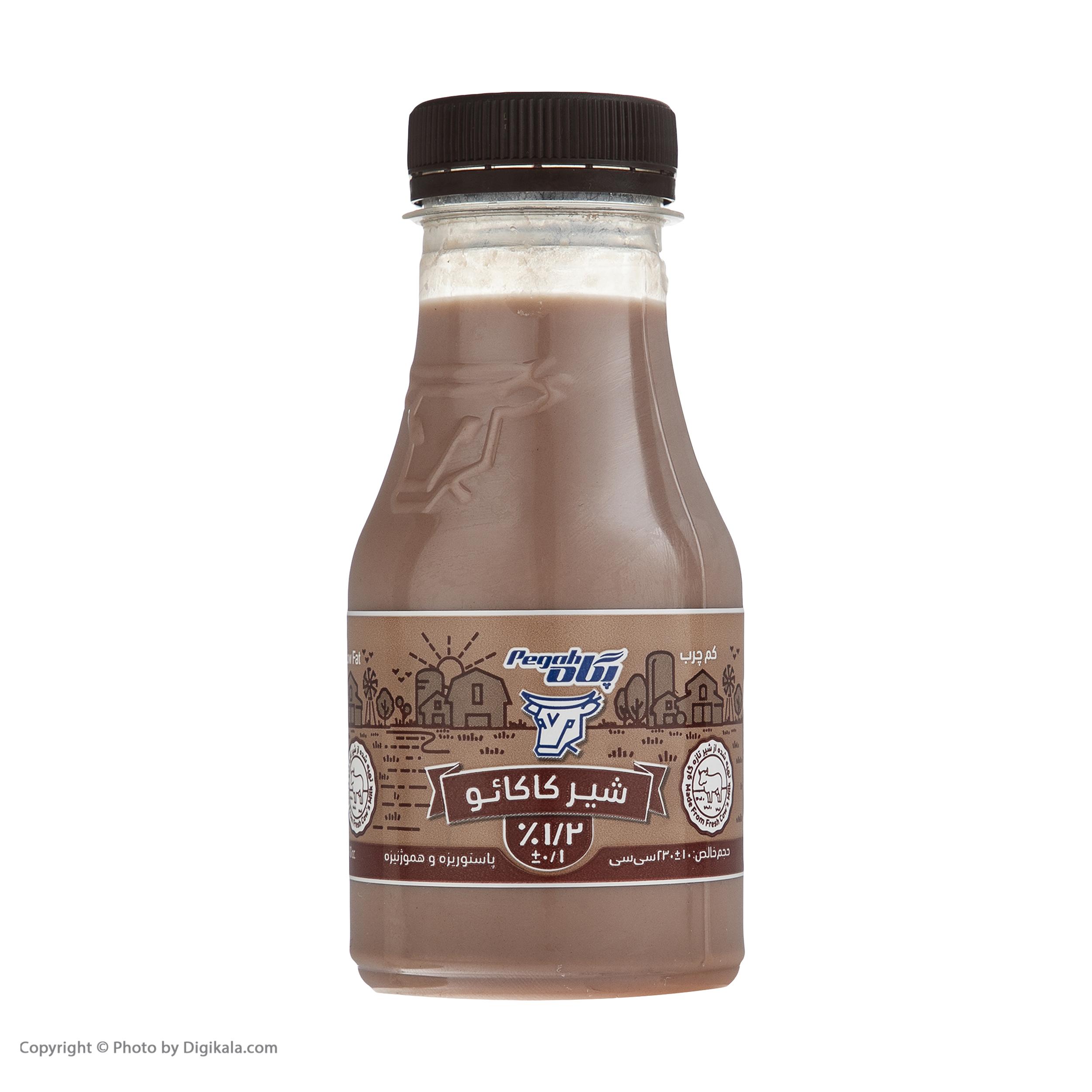 شیر کاکائو کم چرب پگاه - 230 میلی لیتر