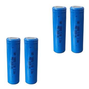 باتری لیتیوم یون مدل INR 18650 ظرفیت 2200 میلی آمپر ساعت مجموعه 4 عددی