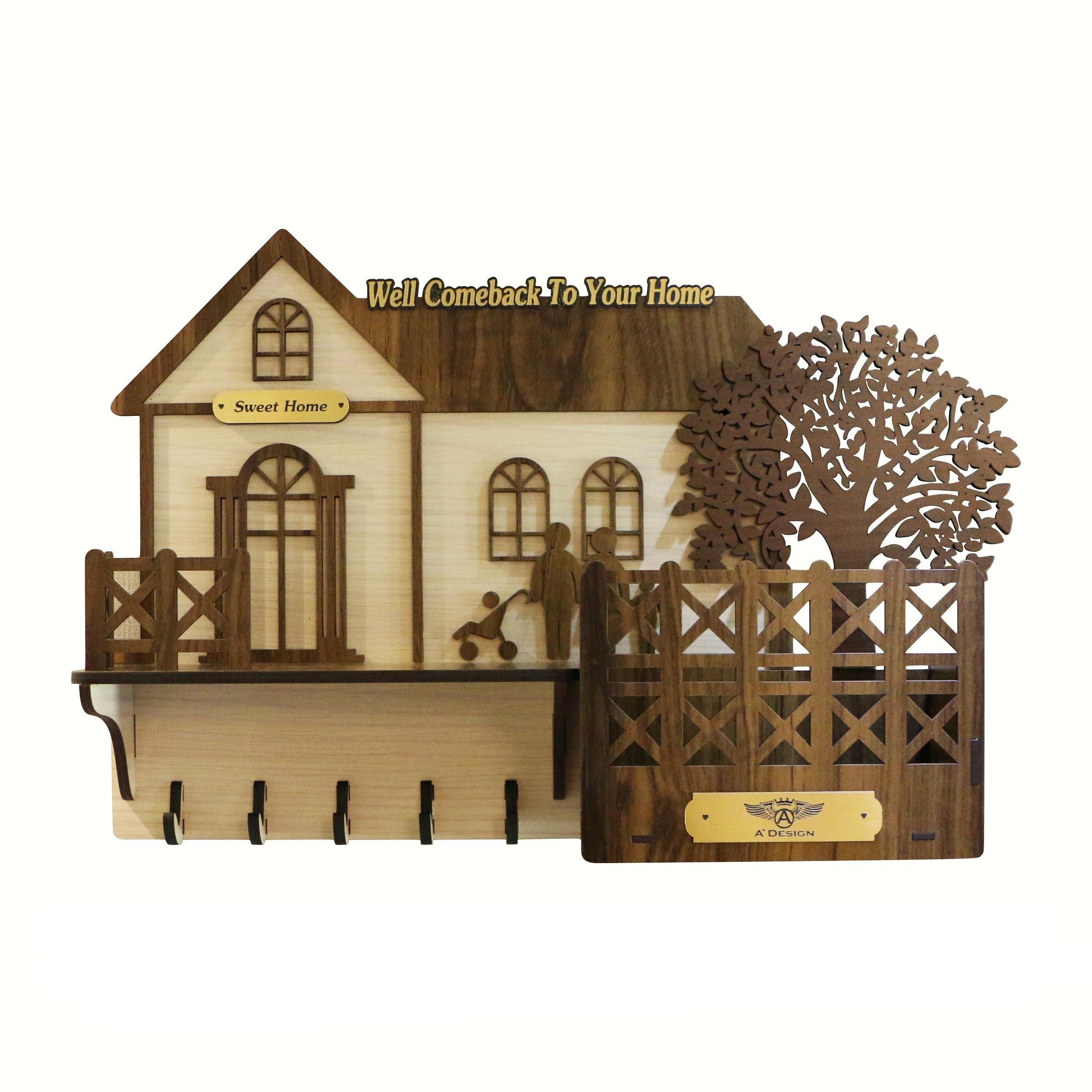 جا کلیدی ای پلاس دیزاین طرح کلبه چوبی