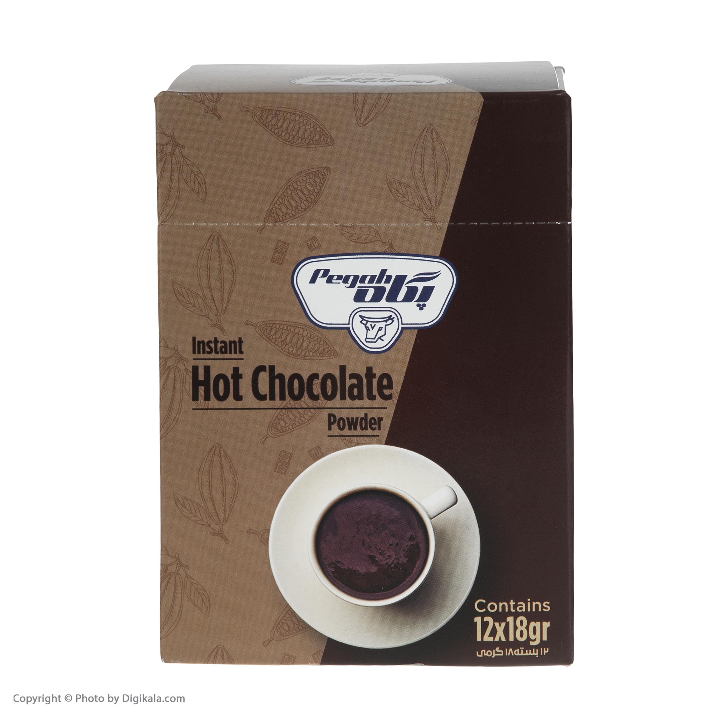 پودر شکلات داغ پگاه - بسته 12 عددی thumb 2 1