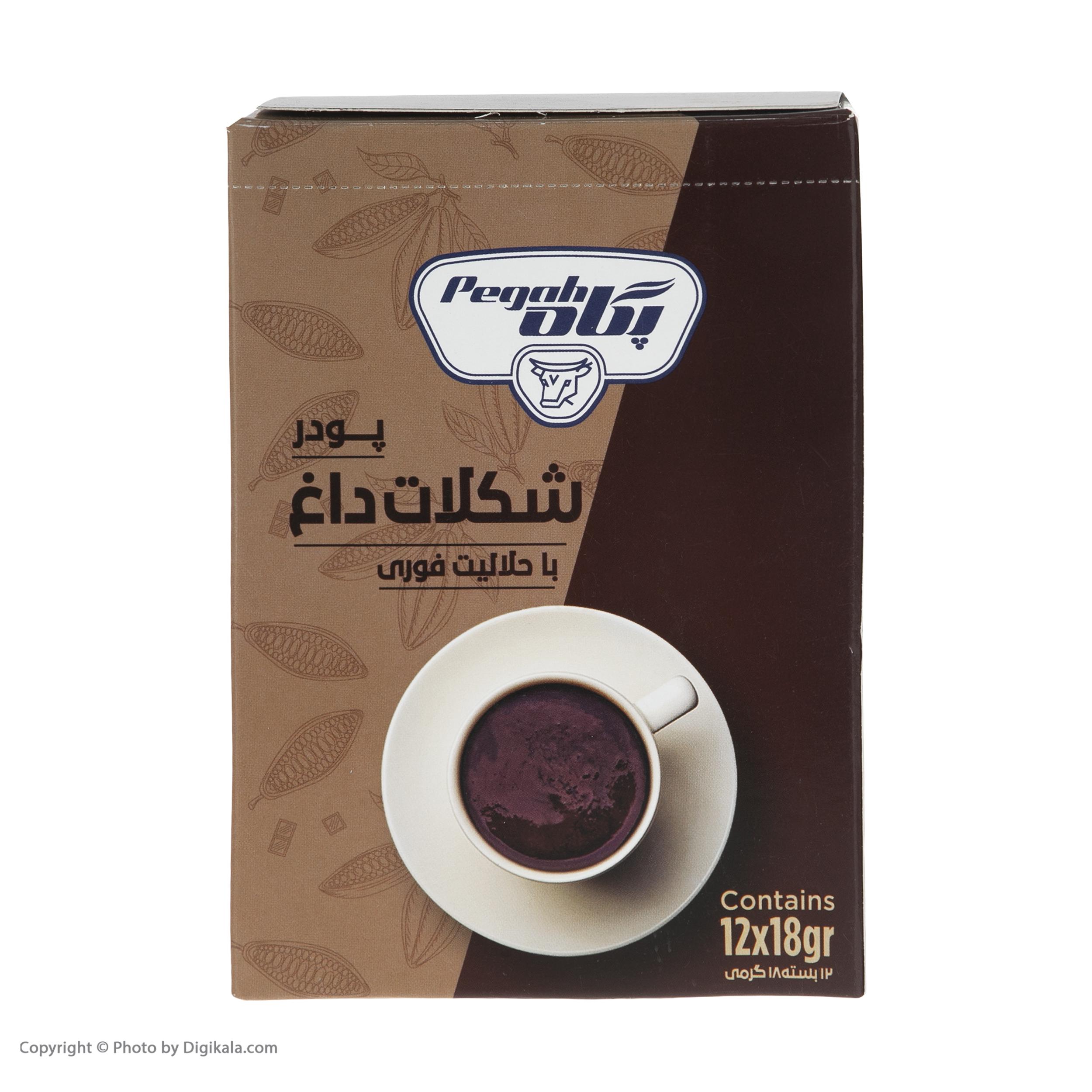 پودر شکلات داغ پگاه - بسته 12 عددی thumb 2 4