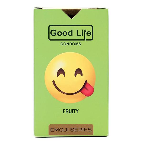 کاندوم گودلایف سری ایموجی مدل Fruity بسته 6 عددی