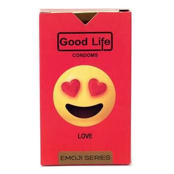 کاندوم گودلایف سری ایموجی مدل Love بسته 6 عددی