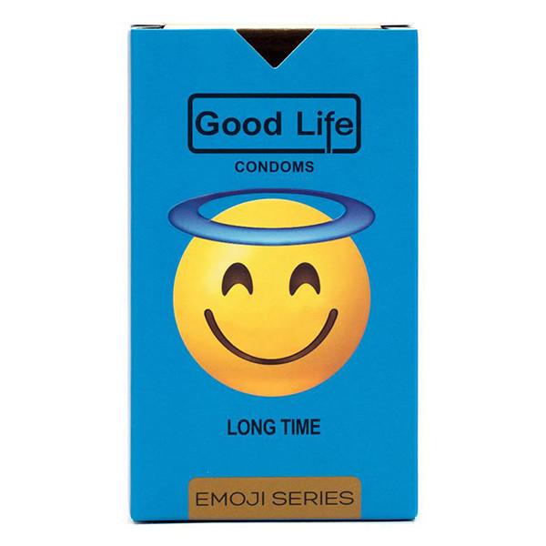 کاندوم گودلایف سری ایموجی مدل Long Time بسته 6 عددی
