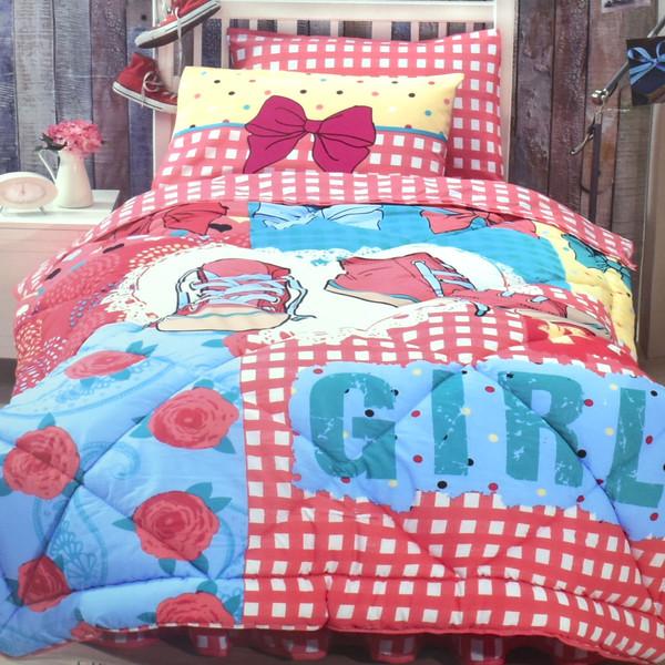 سرویس خواب کوپن طرح Girls یک نفره 5 تکه