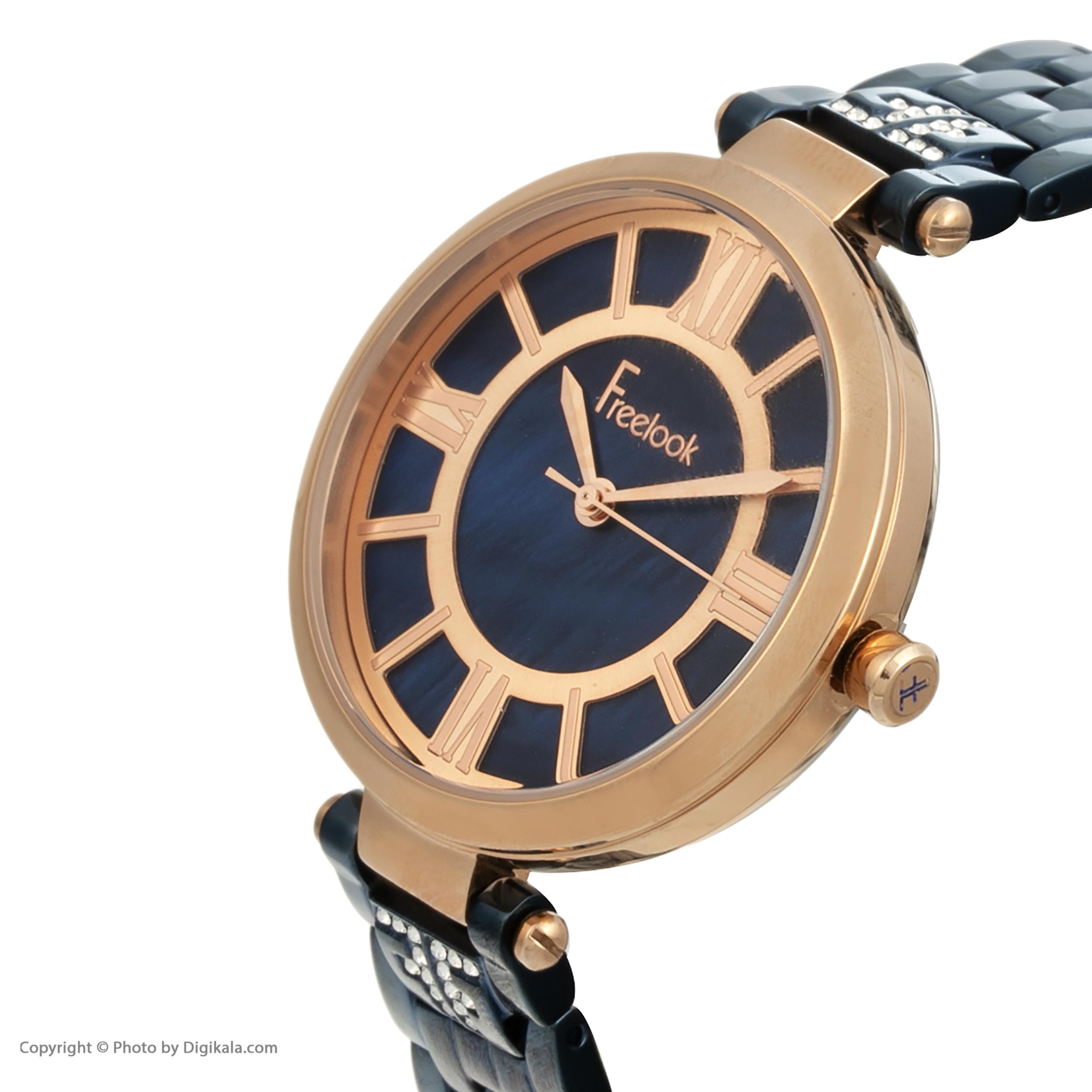 ساعت مچی عقربه ای زنانه فری لوک مدل F.8.1017.04 -  - 1