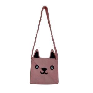 کیف رو دوشی نمدی طرح روباه مدل p07