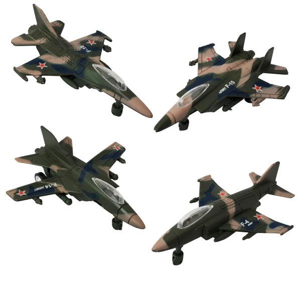 هواپیما اسباب بازی ایکس یو وای ای طرح جنگی مدل F16 کد 0099 بسته 4 عددی