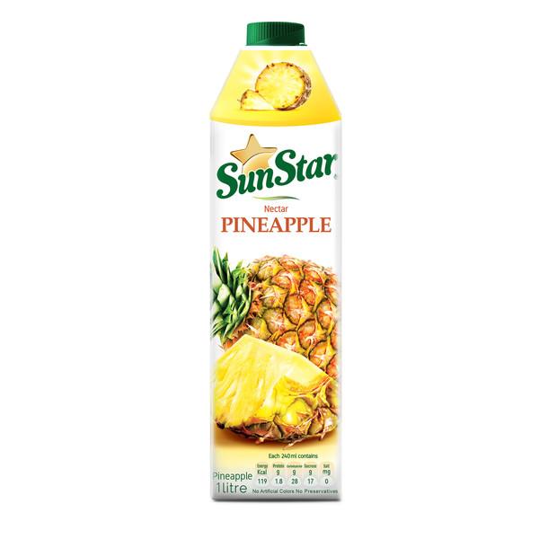 نکتار طبیعی آناناس سان استار حجم 1 لیتر