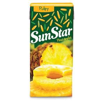 آبمیوه آناناس سان استار حجم 0.2 لیتر