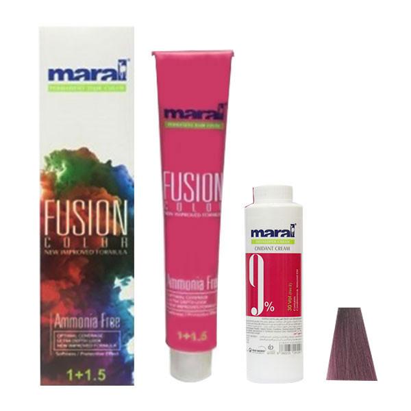 کیت رنگ مو مارال مدل Fusion شماره 5.991 حجم 100 میلی لیتر رنگ ارغوانی بنفش